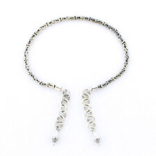 """Silver Bali Link 7.5"""" Tabra Connector Anklet Chain"""