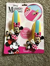 O2Cool Minnie Mouse Boca Towel Clips Two Pack New Portable and Secure