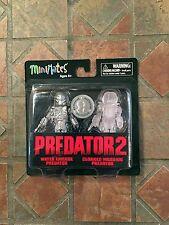 Predator 2 Minimates WATER EMERGE & CLOAKED WARRIOR TRU Exclusive Wave 3 Movie