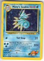 Misty's Seadra - Prelease - Gym Heroes 9/132 - Holo - Pokemon Card - Heavy Play