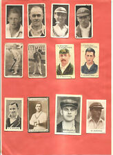 Cigarette & Trade Cards. Twelve miscellaneous cricketers.