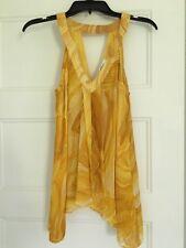 """Diane von Furstenberg Yellow """"Falyn"""" Silk """"Sand Lines Sz 2"""