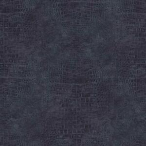 Wallpaper Designer Faux Croc Crocodile Alligator Textured Navy Blue Vinyl