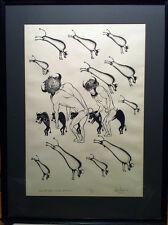 Sarain Stump (Native Canadian) - S/N Silkscreen - Buffaloes (1972)