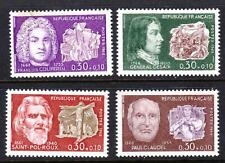 FRANCE 1968 Famous Men - Red Cross Fund -  MNH set of 4 values - (46)