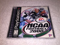 NCAA Football 2000 (Sony PlayStation 1, 1999) PS1 Black Label Complete Excellent