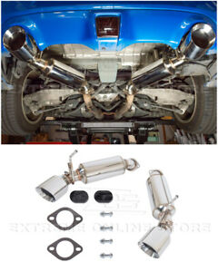 For 09-Up Nissan 370Z Z34 Stainless Steel Axle Back 4.5 Inch Dual Tips Exhaust