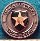 2000 Army 2nd Infantry Division 2ID REENLISTMENT 50mm Pewter Challenge Coin XLNT