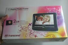 """Vintage TRANSCEND Multifuntions 7"""" Digital Photo Frame """"Sealed"""" TS2GPF720k"""