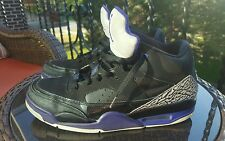 Nike Air Jordan Son of Mars Low, 580603-008, Black/Grape Ice-White, Mens Size 11