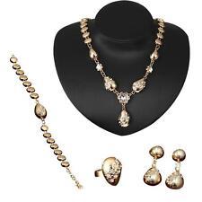 Shinning Prom Wedding Bridal Jewelry Crystal Rhinestone Necklace Earring Sets GA