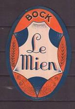 Ancienne étiquette Bière Alcool France  Bock Le Mien