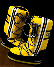 NEW Tecnica Moon boots Moonboot Original Yellow Winter sz 35/38 vertical stripes