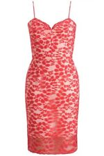 BNWT Lipsy Kardashian Kollection Leaf Lace Cami Shift Pencil Dress UK12 RRP £75
