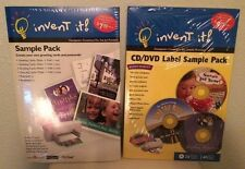 Lot of 2 Invent it! CD/DVD Label Sample  Computer Creations for Ink Jet Printers
