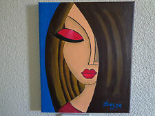 "Tableau ""Aicha"" peinture acrylique"