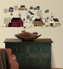 PRIMITIVE SCENERY country wall stickers 40 decals farm house kitchen scrapbook