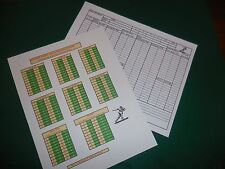 Solitaire Charts for Sports Illustrated College & Pro Football Game & Bonus!!