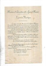 Circa 1850.  Maison. Education. Légion d' Honneur. Saint Denis. Leçons. Piano.