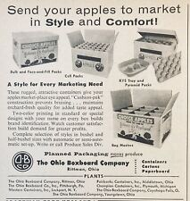 1958 AD.(XG19)~OHIO BOXBOARD CO. RITTMAN, OHIO. FRUIT BOX PACKAGING CONTAINERS