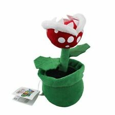"Super Mario Plush Teddy - Piranha Plant in Pipe Soft Toy - Size 8"" / 20cm NEW"