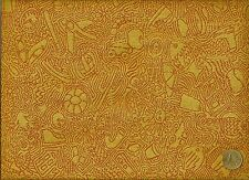 Cf Stinson I Spy Yellow Abstract Pictorial Geometric Funny Bon Upholstery Fabric
