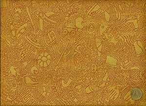 CF Stinson I Spy orange & yellow Geometric Modern Funny Bone Upholstery Fabric