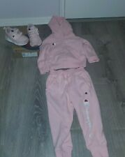 TODDLER GIRL 3T  CHAMPION SWEATSUIT AND SNEAKER SET 7C