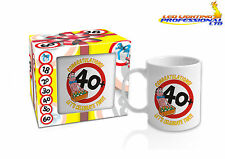 40th BIRTHDAY MUG FOR MEN READY GIFT IN A BOX PRESENT GIVEAWAY - 300ml