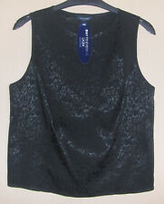 BNWT Debenhams Day To Evening Collection -  Smart Patterned Black Top Size 14