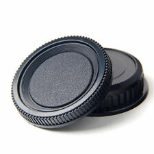 2pcs/set Plastic Rear Lens and Body Cap Cover for Pentax K PK Camera Black