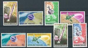 Togo - Erforschung und Nutzung des Weltraumes Satz postfrisch 1967 Mi. 559-566