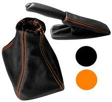 Soufflet de levier vitesse frein à main cuir c. orange pour BMW Série 5 E39