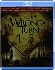 WRONG TURN 1 2 3 4 5 Movie Pack -  Blu Ray - REGION A - sealed