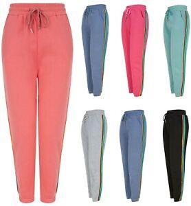 Ladies Womens Joggers Track Leggings Lounge Wear Lined Jogging Jog Suit Pants
