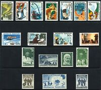 Australia MNH 1957-1966 First AAT Stamps Set 18 Early Decimal Pre-Decimal issues