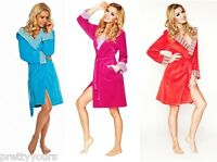 Womens COTTON Bath Robe Housecoat Dressing Gown Bathrobe with Hood UK Size 8-16
