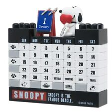 Snoopy Block Perpetual Calendar Monochrome design 2020 Monthly Peanuts