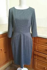 C13 Jessica Howard Grey Fitted Shift Dress Office  Smart Career Size 12
