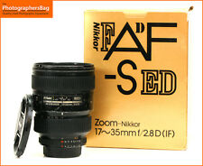 Nikon AF-S 17-35mm F2.8 Zoom Lente + de enfoque manual ED GRATIS UK FRANQUEO