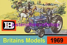 Britains Farm Models Tractor 1969 A3 Large Size Poster Advert Leaflet Shop Sign