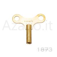 Chiave ottone carica pendolo pendoleria parigina sveglie orologi Key clock brass