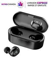 Écouteurs Bluetooth 5.0 sans fil, casque stéréo pour la musique et les appels