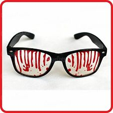 DRIPPING BLEEDING BLOOD GLASSES-HORROR-HALLOWEEN-FUNNY COSTUME-DRESS UP-PARTY