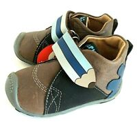 Garvalin Baby boy first walker all leather rubber tap toe with rubber sole