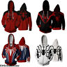 Marvel Avengers Spider-Man Sweater hoodie Adult Men spring fall Casual coat tops