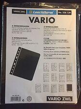 Leuchtturm Kunststoffhüllen VARIO Zwischenblätter, schwarz, 5er Pack, Neuware