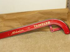 """Vintage 60's -70's NOS Schwinn """"Traveler"""" Hockey Stick Chainguard - Radiant Red"""
