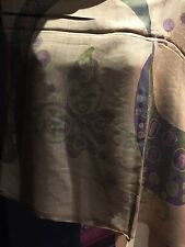 Vintage Style Pale Gold Lavender Butterfly Print Pashmina Fringed Wrap Shawl