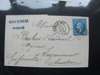 1864 France Stamp cover - Empire Franc - Front / back multi franks